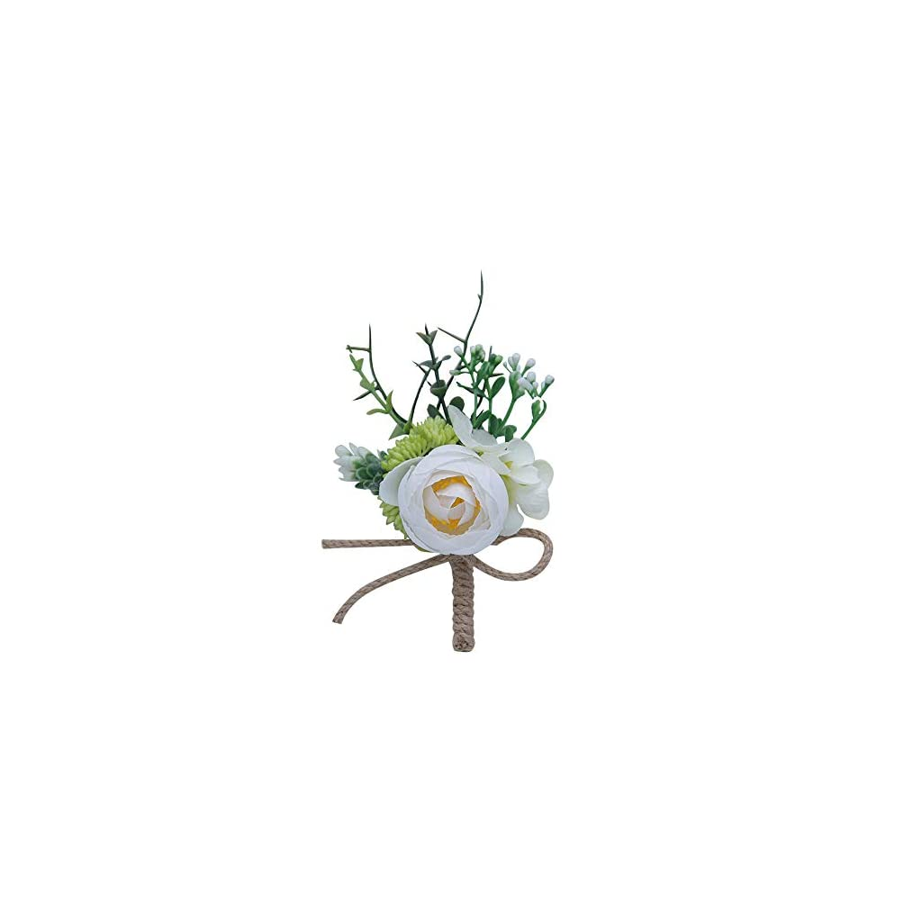 Outdoor-Wedding-Boutonniere-Rustic-Wedding-Guest-Corsage-Flower