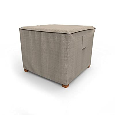 Budge P4A05PM1 English Garden Square Patio Table/Ottoman Cover Heavy Duty and Waterproof, Small, Two-Tone Tan : Garden & Outdoor