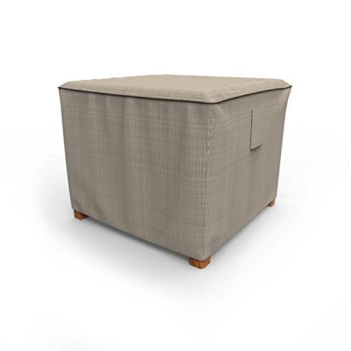 - Budge English Garden Square Patio Table Cover/Ottoman Cover, Small (Tan Tweed)