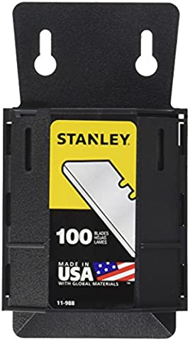 Stanley 11-988 Safety/Carton Round Point Utility Blades with Dispenser,Pack of 100(Pack of 100)