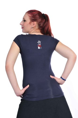 manga azul con para Ropa Top hadas marino redondo cuello mujer para moda hadas camiseta camisa verano mujer de 3elfen corta xw0Sq7gU7
