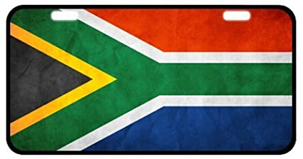 KSLIDS South African Flag Novelty License Plate Decorative Front Plate