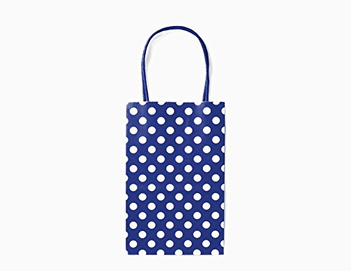 12CT SMALL ROYAL BLUE POLKA DOT BIODEGRADABLE, FOOD
