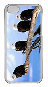 iPhone 5C Case, Personalized Custom Wild And Free Bald Eagles for iPhone 5C PC Clear Case