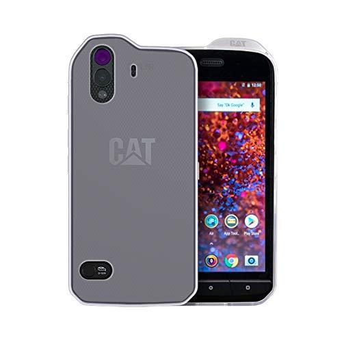 caseroxx TPU-Case and Screen Protector for Cat S61, Set (TPU-Case in White-Clear)