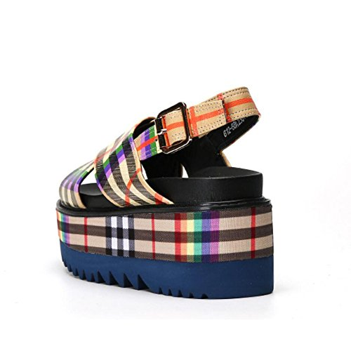 La Las La Tela Altura Pescado Ocasionales Gruesa La Aumento Zapatos Verano ColorGrid del Sandalias Escocesa Zapatos Se del Boca 38 De oras Parte Inferior del Las De De De ItwZqI0