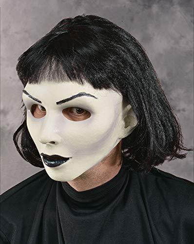 Zagone Hot Goth Mask, White Skinned Female Doll, Black Lips ()