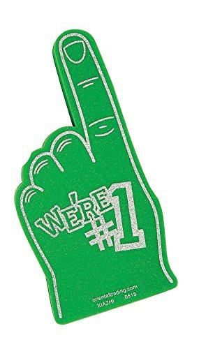 School Spirit Green Foam Hands (9