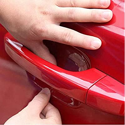 ZaCoo 10 Pcs Car Door Handle Scratches Protective Films Clear Side Sticker Scratches Car Door Protector Films: Automotive