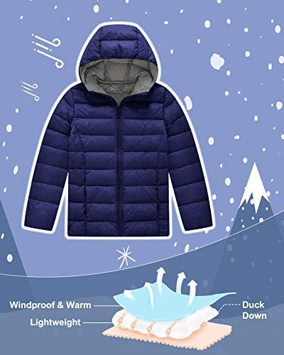 69ebe4c9b0733 Wantdo Boy  s Lightweight Puffer Down Jacket With Hood Packable Outdoor  Windbreaker