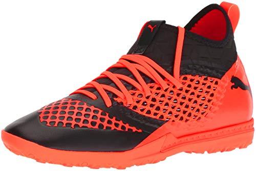 PUMA Men's Future 2.3 Netfit TT Soccer Shoe, Black-Shocking Orange, 10 M US (Puma Shoes Men Futbol)