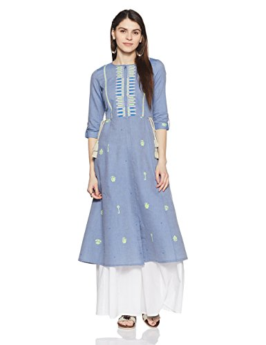 W for Woman 3/4th Sleeve Kalidaar kurta by W for Woman