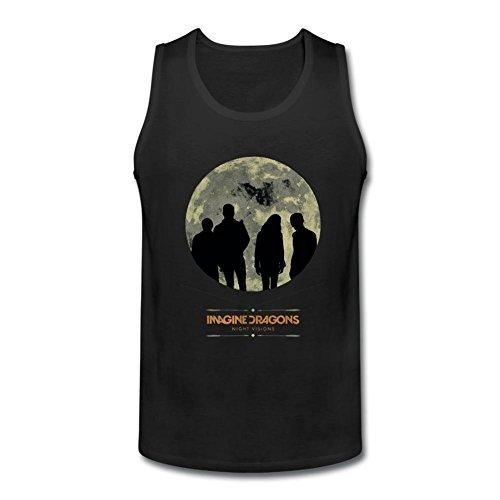 RNUER Adult Imagine Dragons Night Visions Men's Vest Tank Top 100% Cotton (Devil Man Adult Vest)