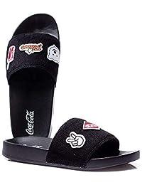 ... Calçados   Esportivos   Últimos 7 dias. Chinelo Coca Cola Slide Patches  - Preto a947863fba29b