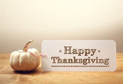 Laeacco Happy Thanksgiving Day Backdrop 7x5ft Vinyl Photography Background Pumpkin Thanks Greeting Card Word Photo Backdrop Studio Family Kids Baby Child Festival Celebration Portrait Backdrops]()