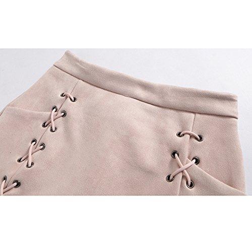 b45318b348 Mujeres Falda de Gamuza - Elegante Vendaje Slim Fit Minifalda con Cremallera  Moda Cintura Alta A-l