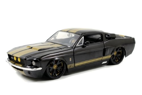 1967 Ford Shelby GT-500 1/24 Black w/ Gold Stripes