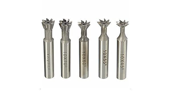 10mm 45° Degree hss High Speed Steel Dovetail Cutter End Mill Bit Router new