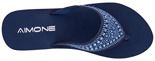 Sparkle AIMONE Thongs Flop Middle Beatrice Flip Navy High Womens Rubber SpSXrq