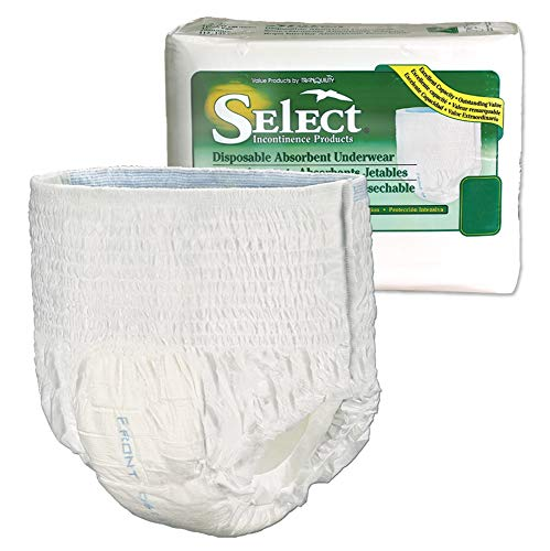 Select Pull-On Disposable Underwear Size Youth (X-Small) Case/96 (4 bags of 24)