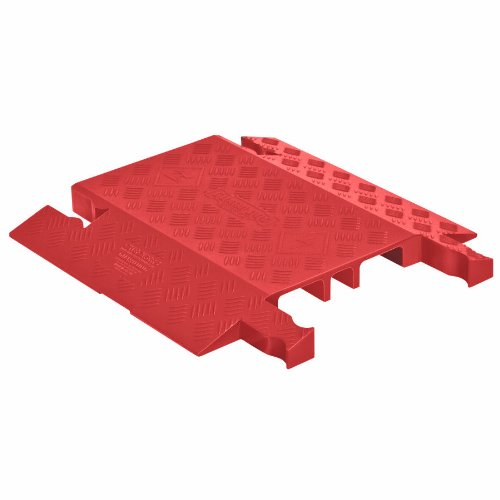 Guard Dog GD3-DO-O Polyurethane 3 Channel Drop Over Cable Protector with Dog Bone Connector, Orange, 18'' Length, 19.75'' Width, 1.87'' Height