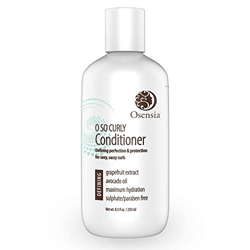 Curl Conditioner for Sexy Curls - Detangling Conditioner for Frizzy Hair - Paraben & Sulfate Free with Avocado & Grapefruit - Best Curly Hair Conditioner for Kids, Men, Women by Osensia 8.5oz (Best Products For Permed Hair)