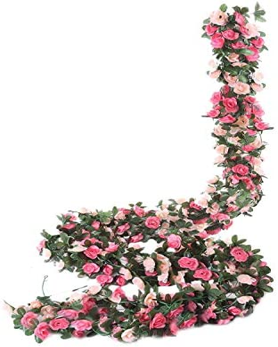 1-2m Artificial Hanging Cherry Rattan Fake Flowers Wedding Garland Vine Decor