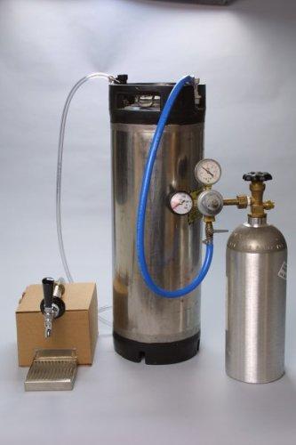 Refrigerator Cornelius Keg System w/ 5lb CO2 Tank (comes empty)