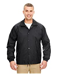 UltraClub Men's Wind-Resistant Coaches Jacket. 8944