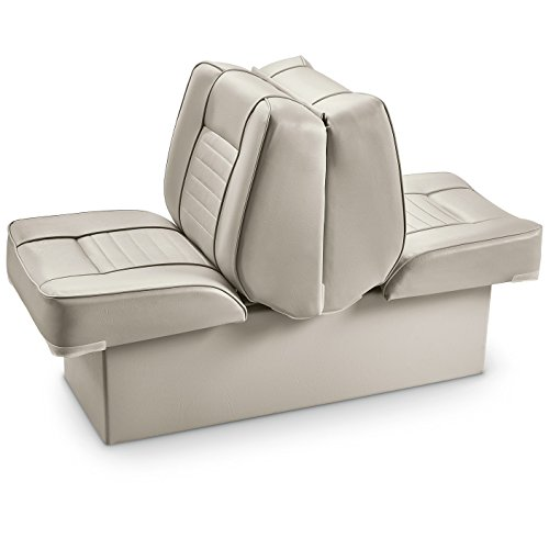 Back Lounge Seat (Guide Gear Back-to-Back Lounge Boat Seat, Light Blue)