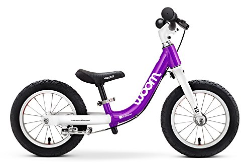 """woom 1 Balance Bike 12"""", Ages 18 Months to 3.5 Years, Purple"""