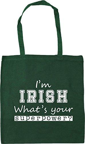 10 42cm Irish I'm Your Beach HippoWarehouse Superpower Gym Bag x38cm Green litres What's Shopping Bottle Tote 4A7xHwRqx