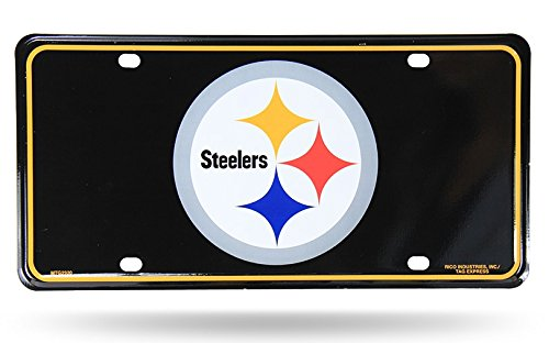 NFL Pittsburgh Steelers Metal Auto Tag, Black at Steeler Mania