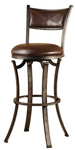 Hillsdale Furniture 4919-830 Hillsdale Drummond Height Bar Stool, Rubbed Pewter