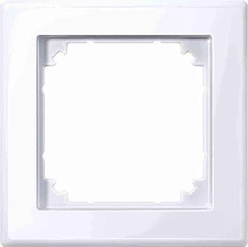 Merten 478125 M Smart Rahmen 1fach Aktivweiß Glänzend Baumarkt
