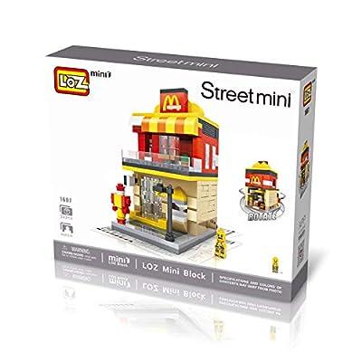 LOZ McDonald's Shop 16007 Mini Construction Building Micro Blocks Compatible Nano Brick Headz Chistmas/Bithday Gifts for Kids DIY Figures Assemble Educational Toys Model Kits: Toys & Games