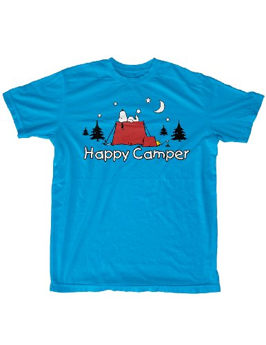 Snoopy Woodstock Happy Camper T-Shirt – Pup Tent Under The Stars For Sale