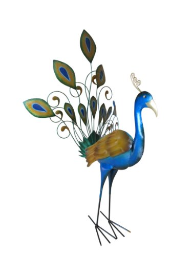 Cheap D-Art Collection Iron Peacock Decor