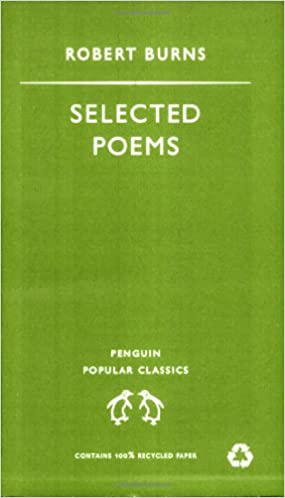 Selected Poems Robert Burns Penguin Popular Classics English And