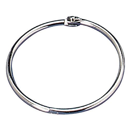 warmecho 1.5Inch (20 Pack) Loose Leaf Binder Rings, Nickel Plated Steel Binder Rings, Keychain Key Rings, Metal Book Rings, Silver, for School, Home, or Office