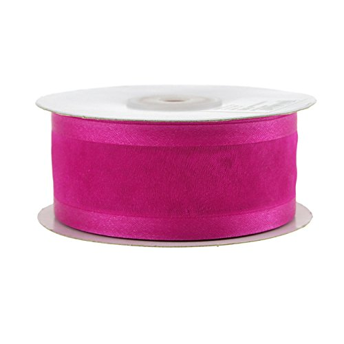 Homeford Satin-Edge Sheer Organza Ribbon, 1-1/2-Inch, 25-Yard (Fuchsia)