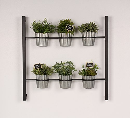 Kate and laurel groves indoor vertical herb garden hanging Indoor living wall herb garden