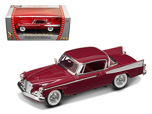 (1958 Studebaker Golden Hawk Garnet/Burgundy 1/43 Diecast Car Model by Road Signature 94254r)