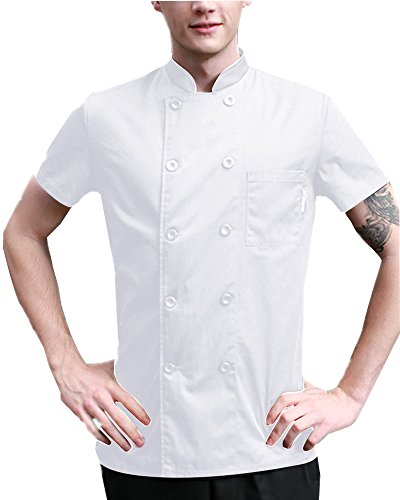 Boupiun Summer Short Sleeve Chef Coat Fashion Cool Unisex Chef Jackets by Boupiun