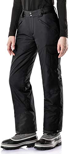 TSLA Women's Winter Snow Pants, Waterproof Insulated Ski Pants, Ripstop Snowboard Bottoms