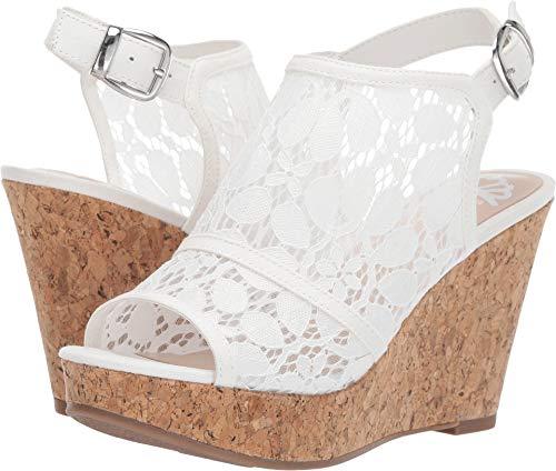 5 Heel Lace - Fergalicious Women's Karma White 5 M US