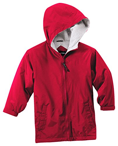Price comparison product image Port Authority Youth Team Jacket, Red/Light Oxford, Large