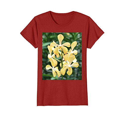 Womens Yellow Orchid Blooms from Singapore Botanical Gardens Medium - From Singapore Women