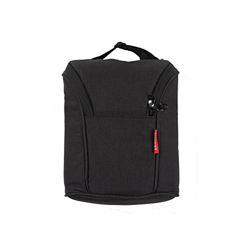 SANNE Baby Double Bottle Bag Insulated breastmilk Cooler Bag for Kids Baby Boys Girls Leakproof with Zip and Handle Adjustable Strap to go Travel Shool Picnic (black) (Cooler Baby)