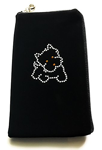 Gütersloher Shopkeeper, Borsetta da polso donna nero soft strass Microsoft Lumia 950 XL